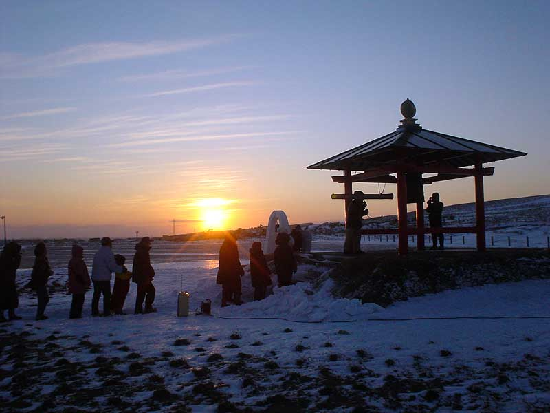 宗谷岬の初日の出の写真